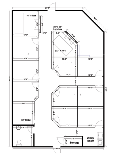 tanning salon layout blueprint