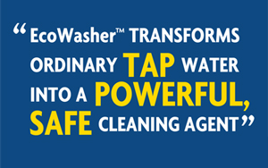 transforms tap water into a pwerful cleaning agent