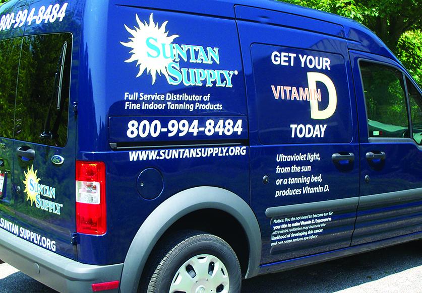suntan supply service department truck van vehicle