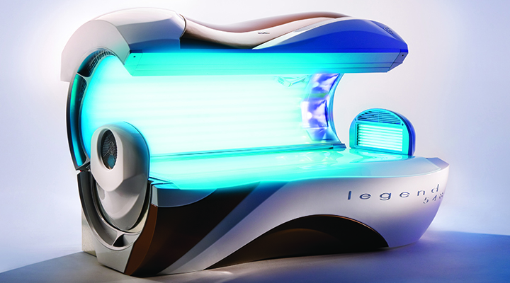 Legend 548 tanning bed open