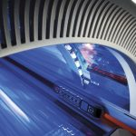 luxura x 5 tanning bed control panel detail