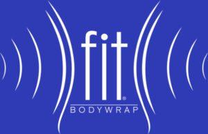 fit bodywrap white on blue logo
